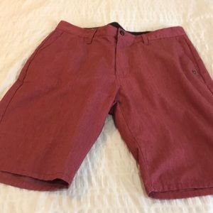 Volcom shorts.  Size 33. Reddish color